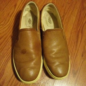 Tan leather UGG shoes